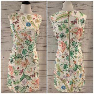 Sara Campbell Print Sleeveless Sheath Dress 6